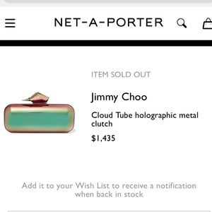 02e0a8a15d35 Bags - Holographic metal clutch like Jimmy Choo